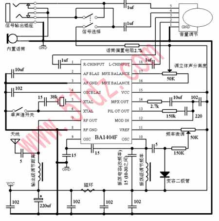 调频电路组成框图